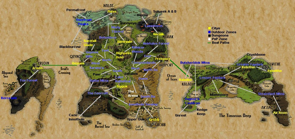Everquest general information maps publicscrutiny Image collections
